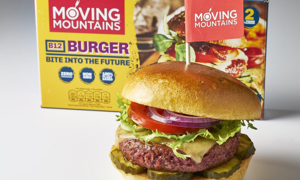 British burger brand launches the UK's first vegan 'bleeding' burger