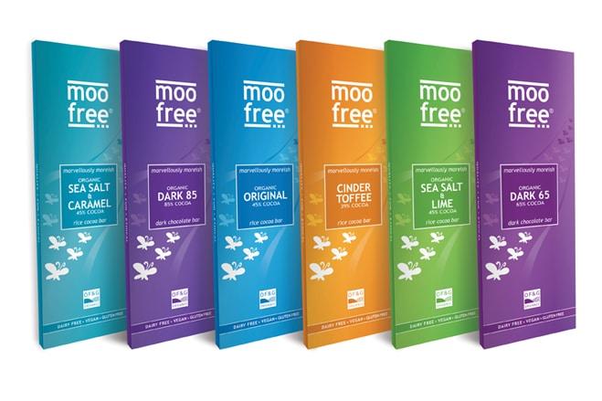 Moo Free launch six new premium vegan chocolate bars