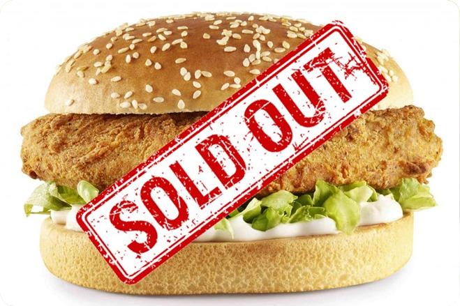 KFC Vegan Burger Sells Out!