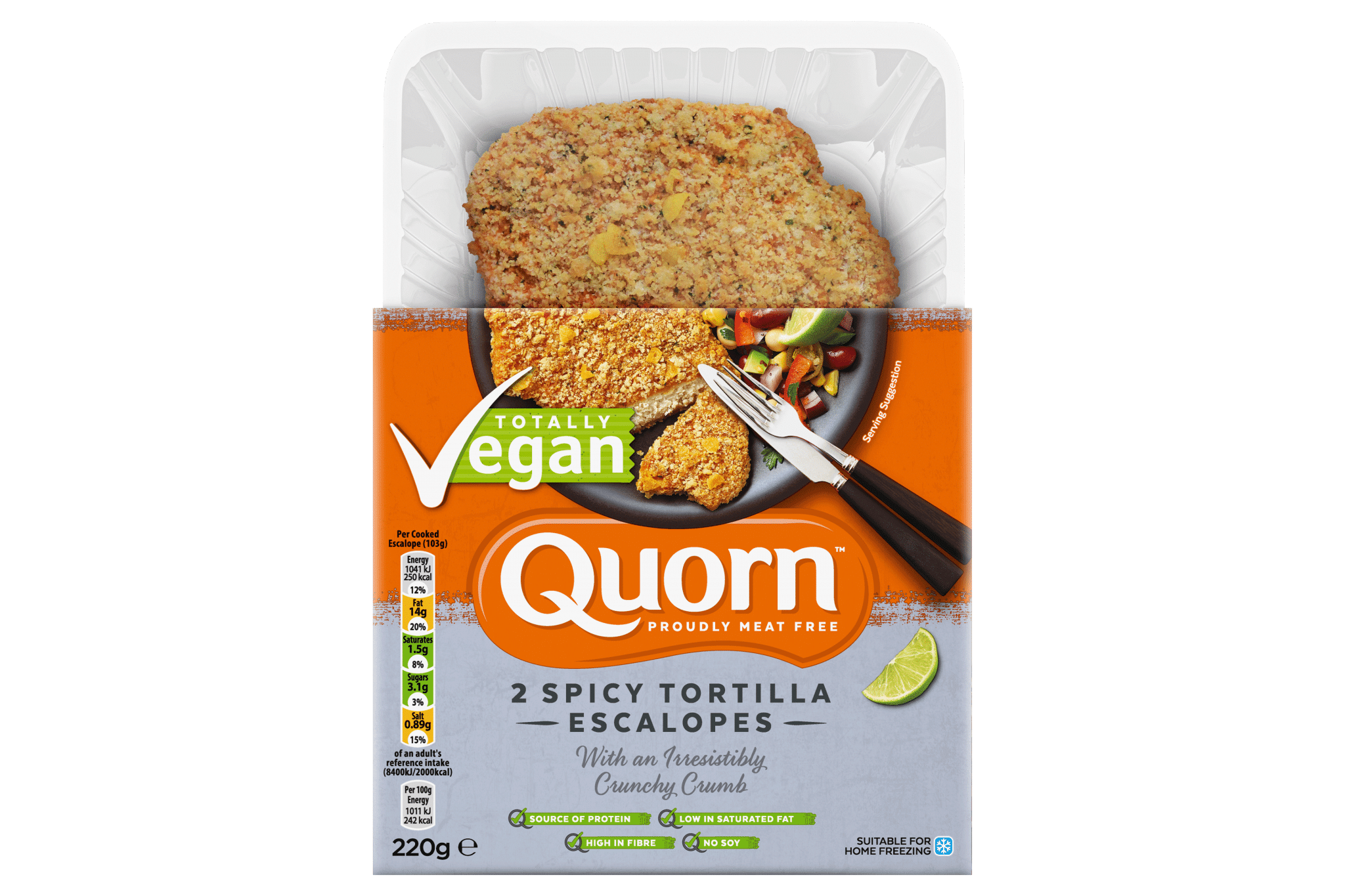 Quorn spicy escalopes