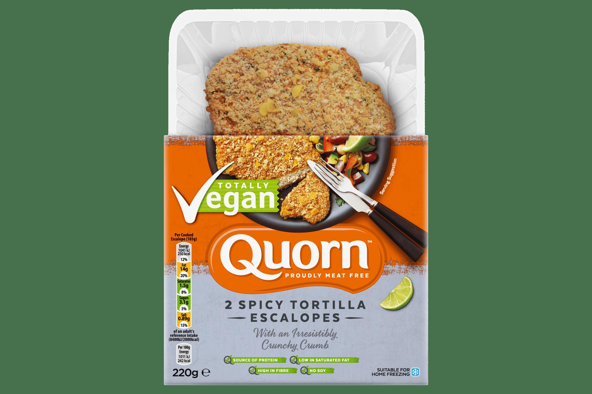Quorn spicy escalopes