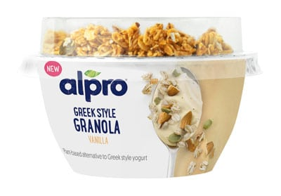 alpro Greek style with granola