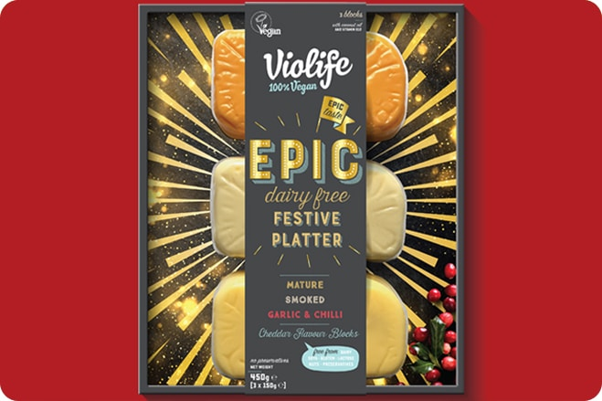 Dairy-Free Cheese Brand to Launch Christmas Platter