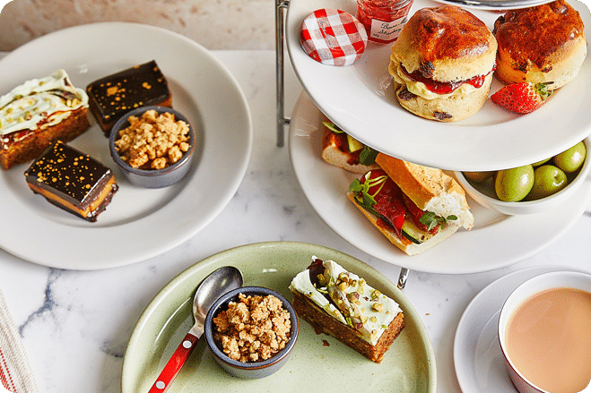 Parisian-style bistro chain Café Rouge is launching a vegan afternoon tea