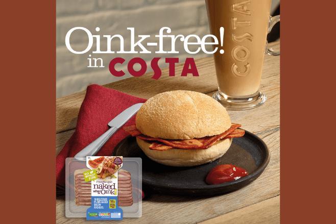 Costa adds revolutionary vegan bacon bap to menu
