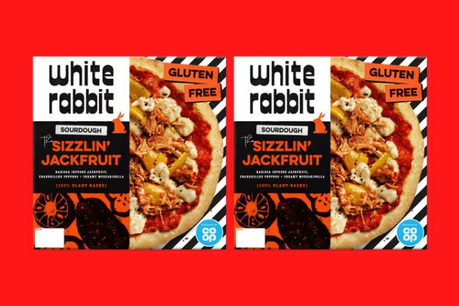 Co-op partners with White Rabbit to bring out an exclusive frozen vegan pizza