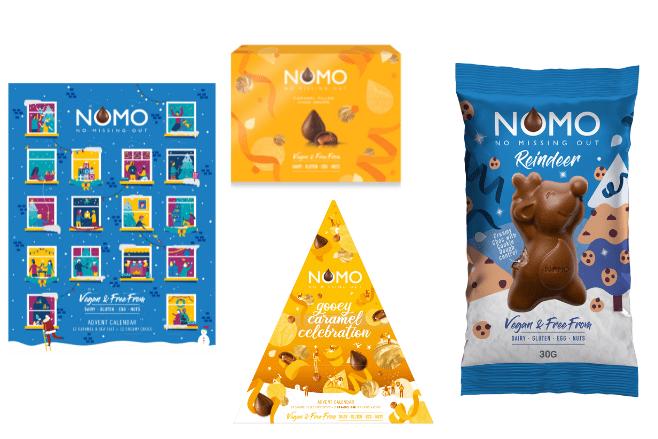 NOMO launches new vegan Christmas goodies